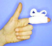 Давящая повязка на указательный палец
