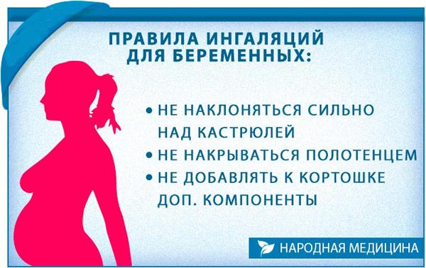 Правила ингаляций для беременных