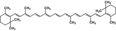 Формула бета-каротина