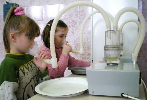 Групповая ингаляция детей при кашле