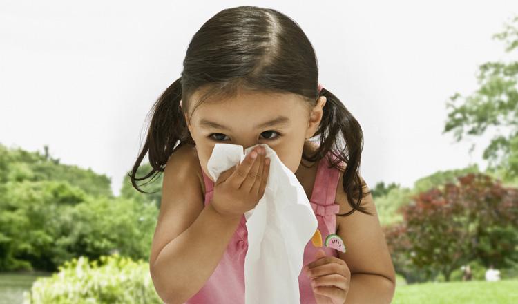 У девочки аллергия