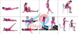 Комплекс упражнений при артрозе коленного сустава