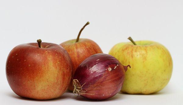 Яблоки и лук при кашле