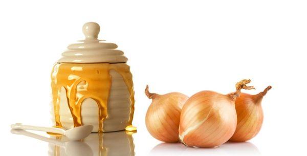 Горшочек с медом и луковицы
