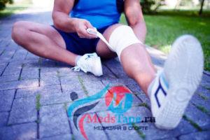 Как правильно наматать эластичный бинт на колено?