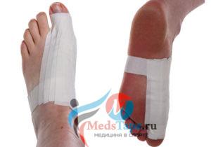 Инструкция наложения тейпа на большой палец ноги в спорте - шаг 5